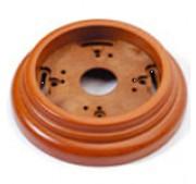 Wandplaat ringen voor 1 element, Hout honing