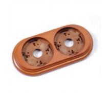 Wandplaat ringen voor 2 elementen, Hout honing