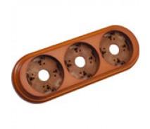 Wandplaat ringen voor 3 elementen, Hout honing