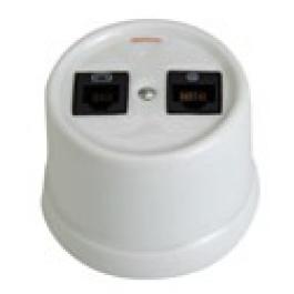 Combi telefoon (6-polig) + RJ45 Netwerk (Cat 6)