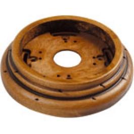 Wandplaat ringen voor 1 element, Oud hout