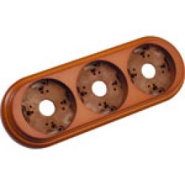 Wandplaat ringen voor 4 elementen, Hout honing