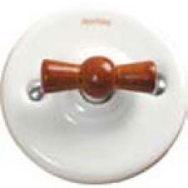 Schakelaar wissel (hotel), Wit, Knop honing hout